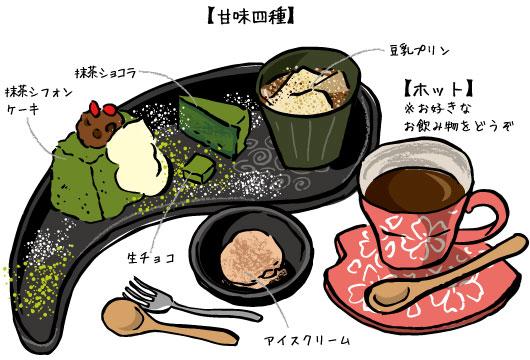 あべまき茶屋 あべまきセット 甘味4種