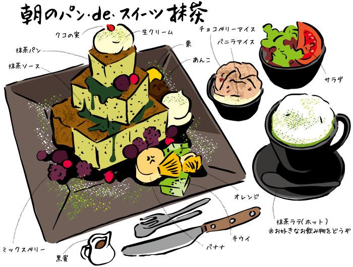 甘味処 あべまき茶屋 朝のパン・de・スイーツ抹茶